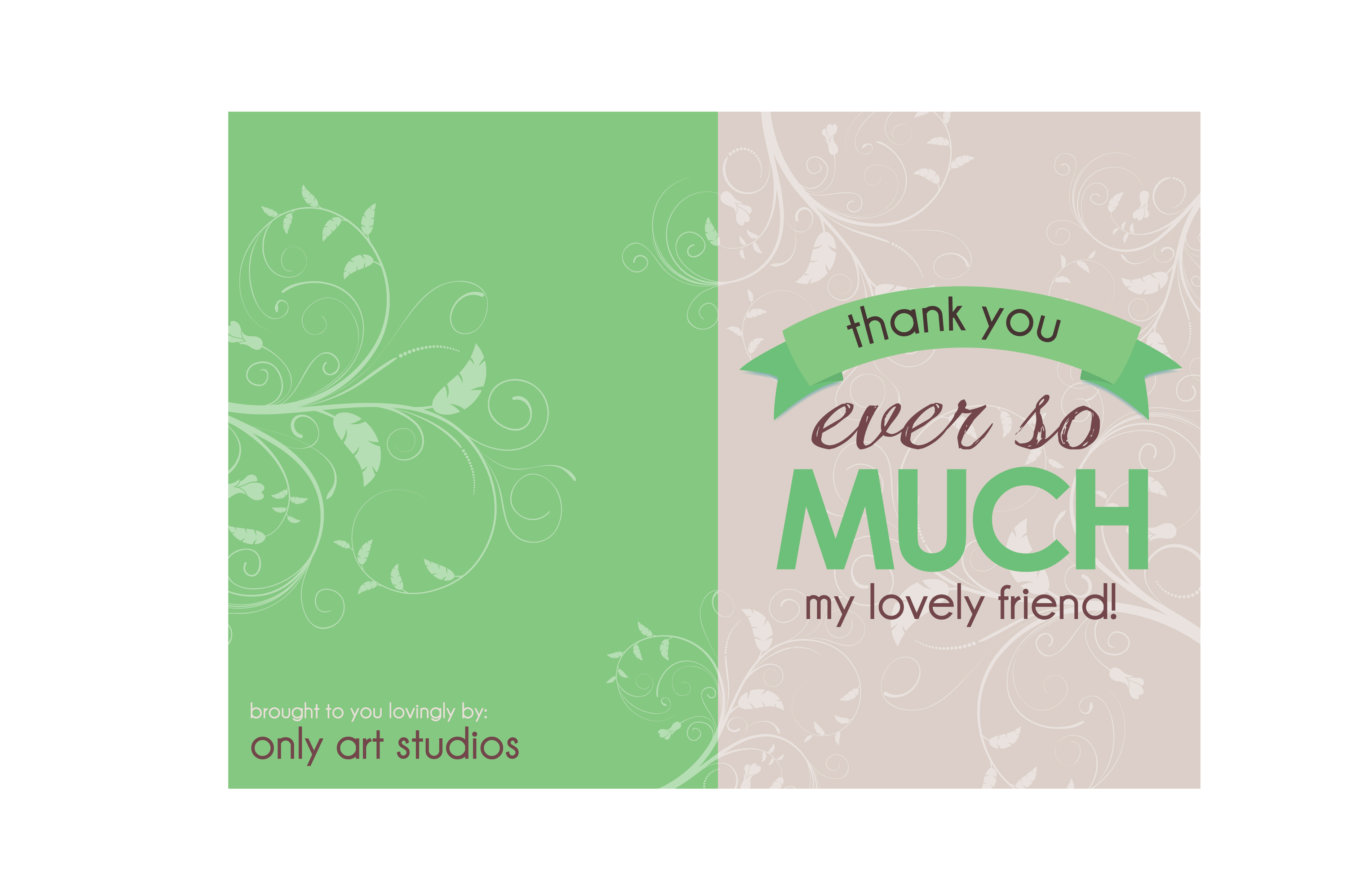 Thank you card design | Emmalee Shallenberger: Graphic Designer