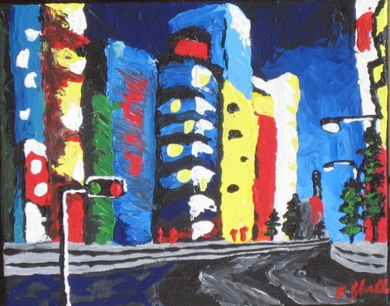 Original acrylic painting: Tokyo
