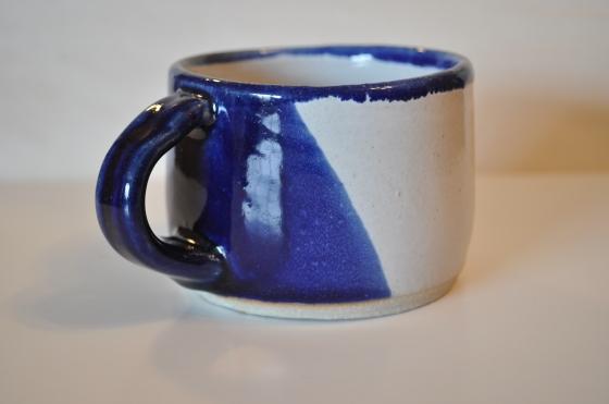Indigo dipped mug