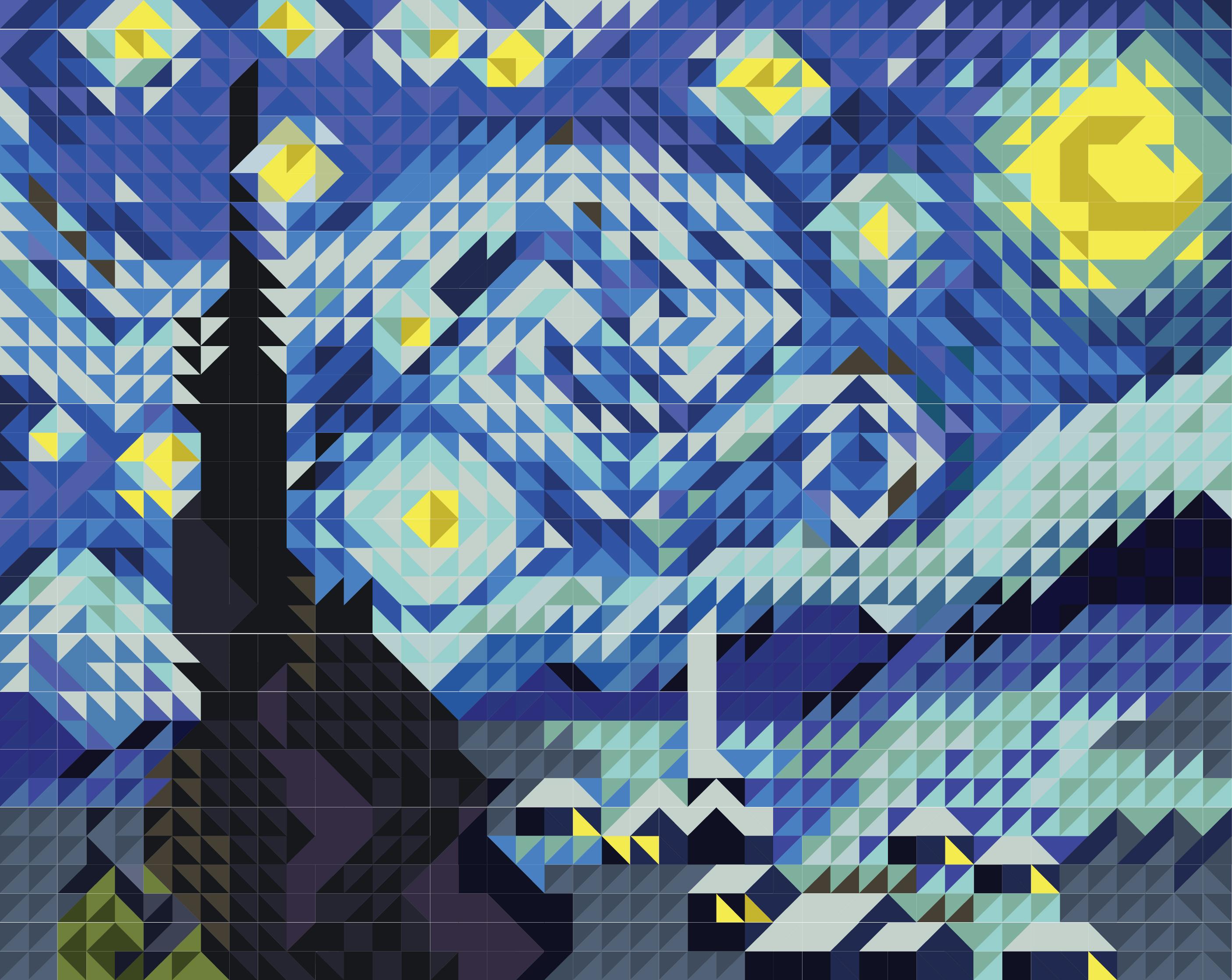Quilt Pattern: Van Gogh's StarryNight
